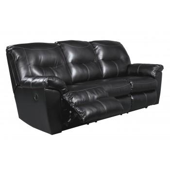 Kilzer DuraBlend - Black - Reclining Sofa