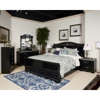 Constellations - Black - Queen Sleigh Headboard
