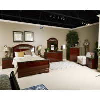 Fairbrooks Estate - Reddish Brown - Queen Sleigh Headboard