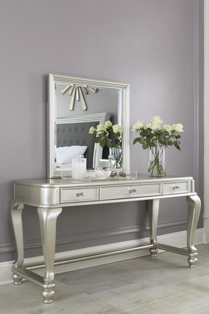 Charming Coralayne   Silver   Vanity Mirror
