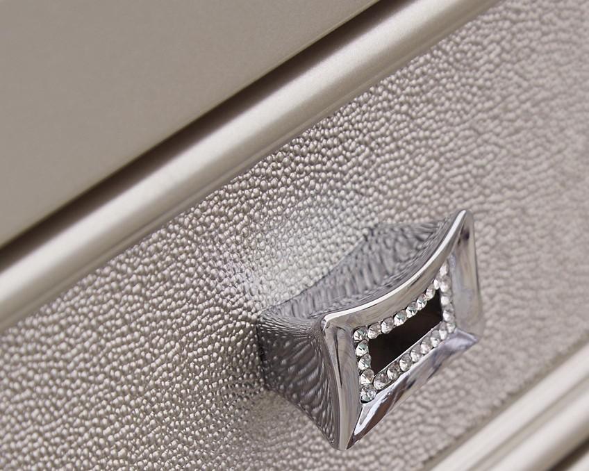 Coralayne Silver Three Drawer Night Stand B650 93