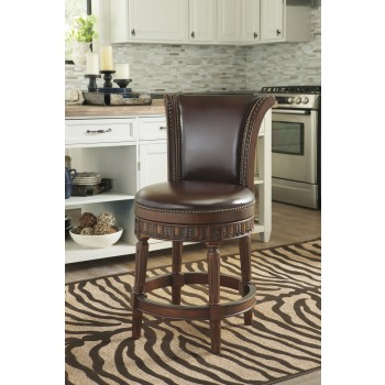 North Shore - Dark Brown - UPH Swivel Barstool (1/CN)