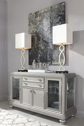 Coralayne - Silver Finish - Dining Room Server | D650-60 | Servers ...