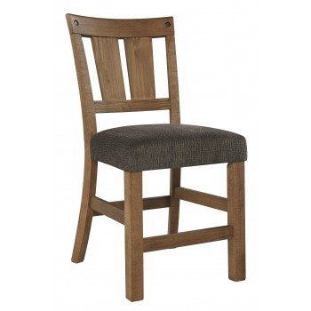 Tamilo - Gray/Brown - Upholstered Barstool (2/CN)