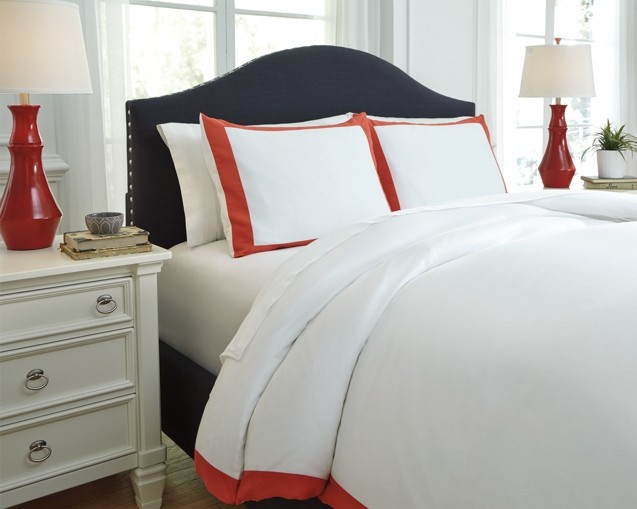 Ransik Pike - Coral - King Duvet Set