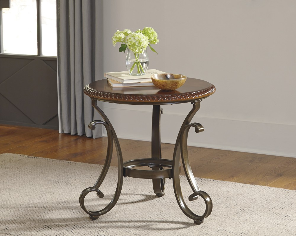 Gambrey - Reddish Brown - Round End Table