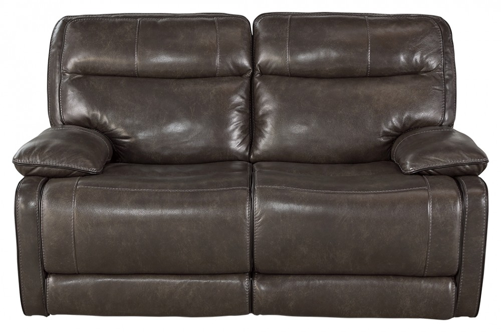 Palladum - Metal - Reclining Power Loveseat