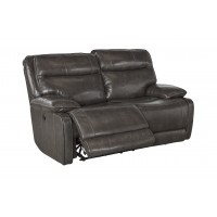 Palladum - Metal - Reclining Loveseat