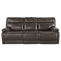 Palladum - Metal - Reclining Power Sofa