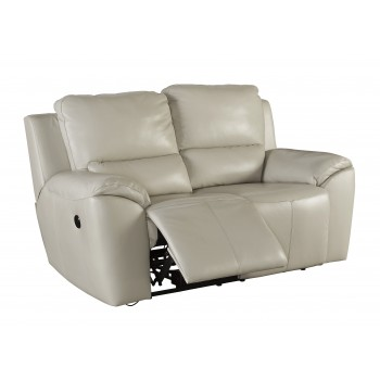 Valeton - Cream - Reclining Power Loveseat
