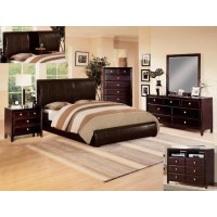 B6285Q Queen Bed w/ Fold Down Table