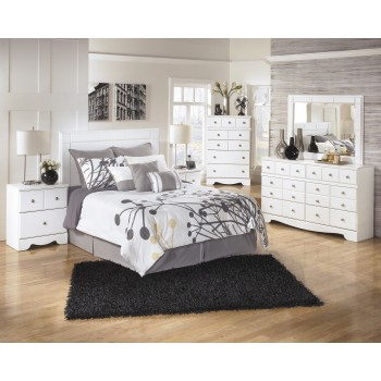 Weeki 3 Pc. Bedroom - Dresser, Mirror & Queen/Full Panel Headboard