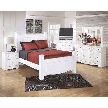 Weeki 6 Pc. Bedroom - Dresser, Mirror & Queen Poster Bed