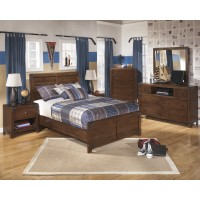 Delburne Dresser, Mirror & Full Panel Bed