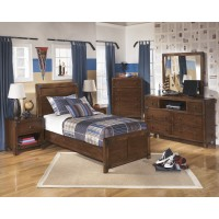 Delburne Dresser, Mirror & Twin Panel Bed