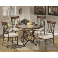 Hopstand Round Dining Table and 4 UPH Side Chairs