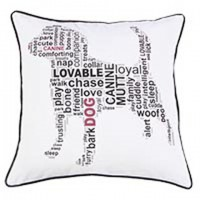 Beals - White/Black - Pillow Cover