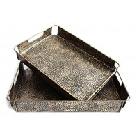 Kale - Antique Bronze Finish - TRAY (SET OF 2)
