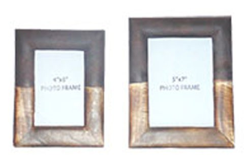 Michi - Bronze Finish/Wood - PHOTO FRAME (SET OF 2) | A2000198F ...