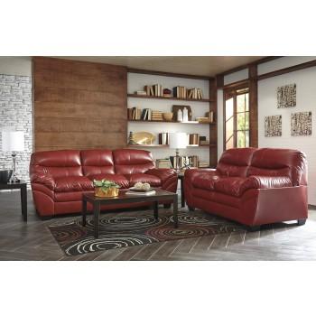Tassler DuraBlend - Crimson - Sofa & Loveseat