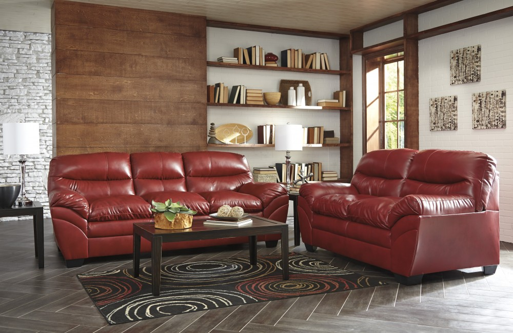 Tassler DuraBlend   Crimson   Sofa U0026 Loveseat