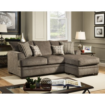 Enjoyable Cornelius Collection Pewter Chaise Sofa Pdpeps Interior Chair Design Pdpepsorg
