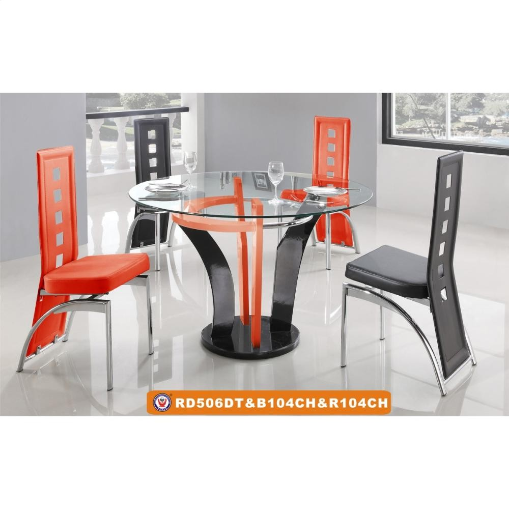 506dt 104ch Red Black 506dt104chredblack Dining Room Groups Galaly Furniture