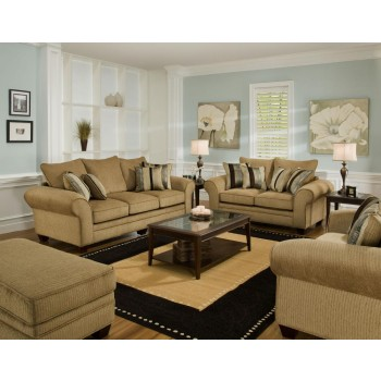 AMERICAN FURNITURE MANUFACTURING Waverly Suede Sofa   37033921   Sofas    Sharonu0027s Furniture