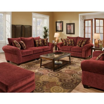AMERICAN FURNITURE MANUFACTURING Masterpiece Burgundy Sofa