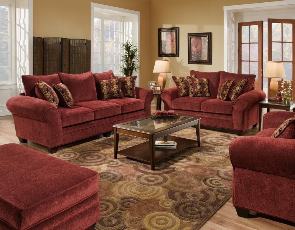 AMERICAN FURNITURE MANUFACTURING Masterpiece Burgundy Sofa