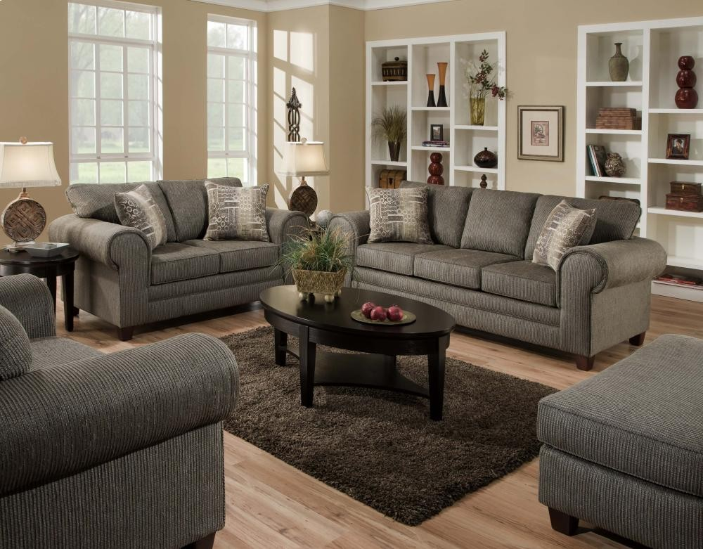 American Furniture Manufacturing Romance Graphite Sofa 37535750