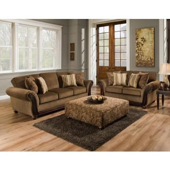 AMERICAN FURNITURE MANUFACTURING Cornell Chestnut Sofa