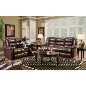 AMERICAN FURNITURE MANUFACTURING New Era Walnut Reclining Loveseat w/ Console