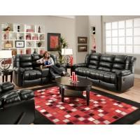 AMERICAN FURNITURE MANUFACTURING New Era Black Reclining Sofa