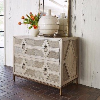 AMBELLA HOME Diamond Two Drawer Cabinet