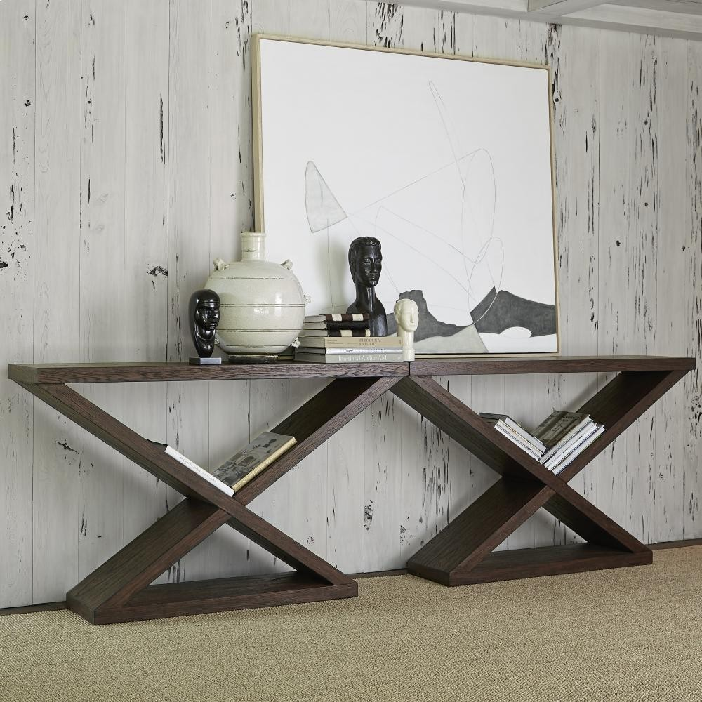 Incroyable AMBELLA HOME Salone Scuro Double V Console Table