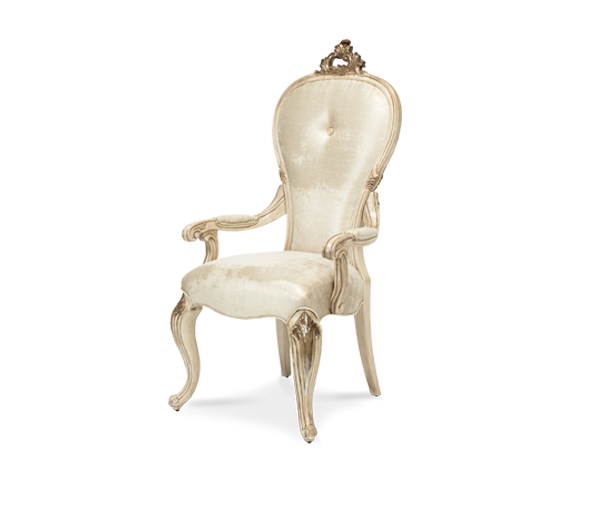 AMINI Platine de Royale Arm Chair Champagne