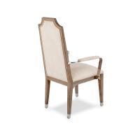 AMINI Biscayne West Arm Chair w/Stainless Steel Arm Haze