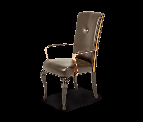 AMINI Hollywood Loft Arm Chair Ganache