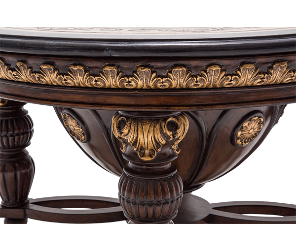 Versailles Square Coffee Table: AMINI Versailles Round Cocktail Table