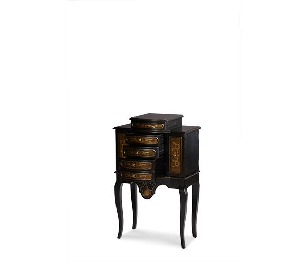 AMINI  sc 1 st  Mega Furniture & AMINI Jewelry Storage Chest Dark Brown | ACFSTCHNTG111 | Jewelry ...
