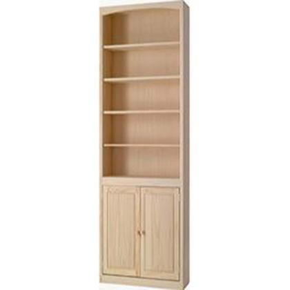ARCHBOLD FURNITURE Pine 24 Inch Bookcase with Doors | ARC2484DU