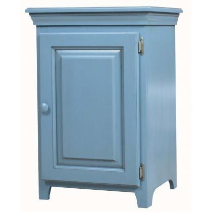 ARCHBOLD FURNITURE Pine 1 Door Console Cabinet, 20.25x16.25x30