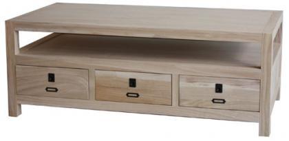 ARCHBOLD FURNITURE Paulownia Coffee Table, 48x24x18