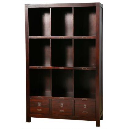 ARCHBOLD FURNITURE Paulownia Bookcase, 37.5x16x60