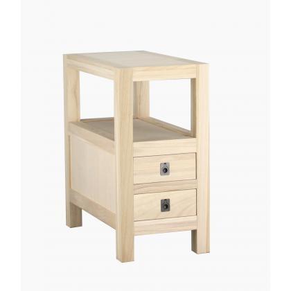 ARCHBOLD FURNITURE Paulownia Chairside Table, 12x24x24