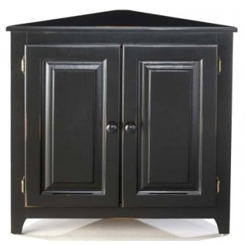 ARCHBOLD FURNITURE Pine Corner Cabinet With Doors, 32x16.5x31