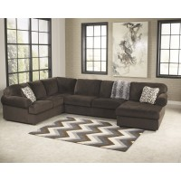 Jessa Place - Chocolate 3 Pc. RAF Chaise Sectional