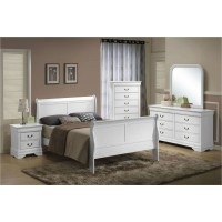 Louis White Twin Bedroom Group