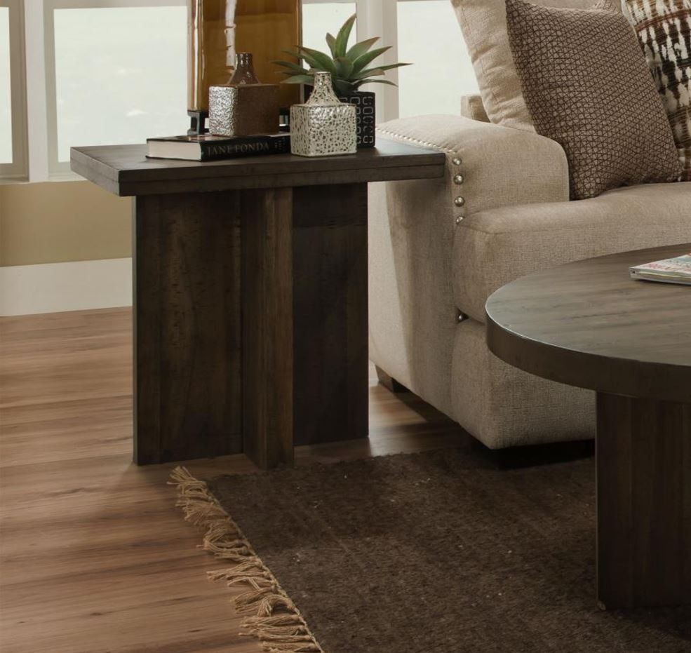 Tora Distressed Walnut End Table